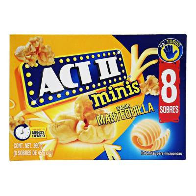 Act II Mini Bags Butter Microwave Popcorn (8 bags)