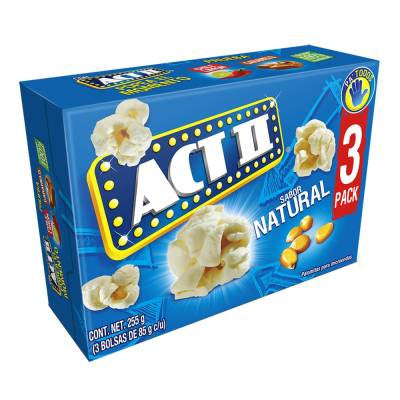 Act II Natural Microwave Popcorn (3 Pack)