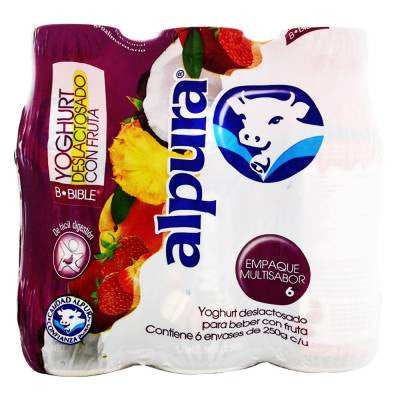 Alpura Mixed Fruits Drinkable Yoghurt Lactose Free (6 Pack)