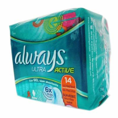 Always Ultra Active Flexi-Wings Pads (14 ct)