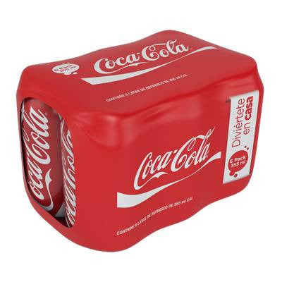 Coca-Cola Classic Soda Cans (6 Pack)