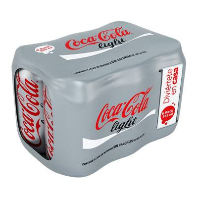Coca-Cola Light Soda Cans (6 pack)