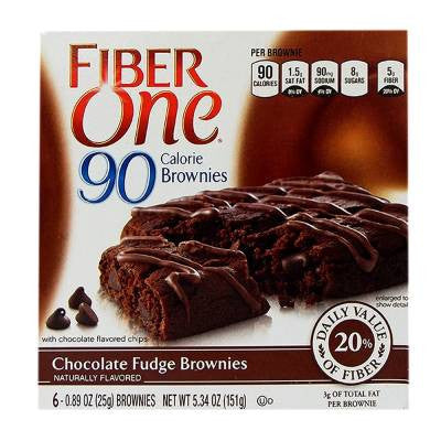 Fiber One Brownies 90 Calorie Chocolate Fudge (6 ct)