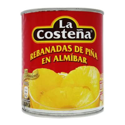 La Costeña Canned Sliced Pineapple In Syrup