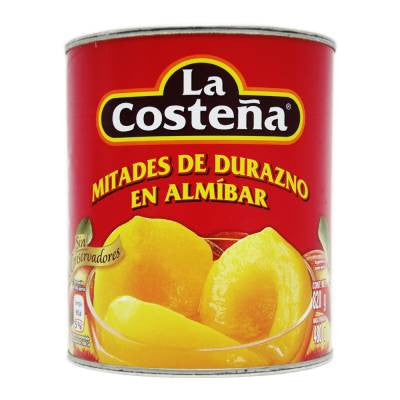La Costeña Canned Yellow Cling Peach Halves