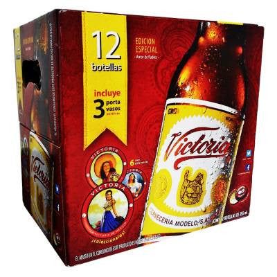 Victoria Beer Bottles (12 Pack)