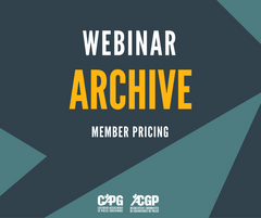CAPG Webinar Archive *Member Pricing*