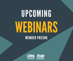 Upcoming CAPG Webinars *Member Pricing*