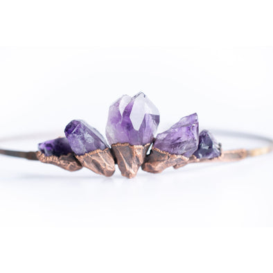 Amethyst crystal crown | Raw amethyst crown | Amethyst tiara CROWNS/HAIR ACCESSORIES