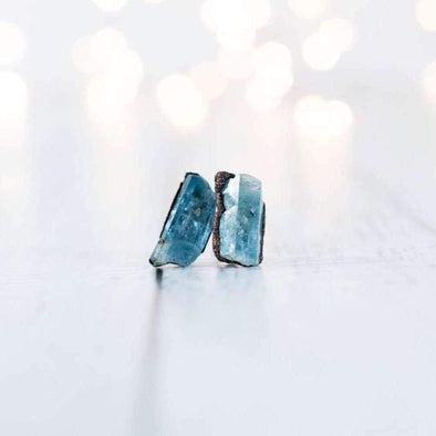 Aquamarine earrings | Aquamarine stud earrings | Aquamarine studs EARRINGS