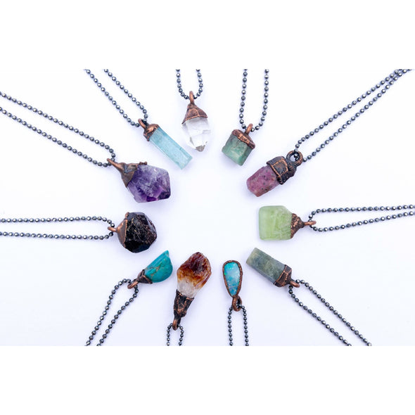 Birthstone Necklace | Birthstone Jewelry | Raw Crystal Necklace