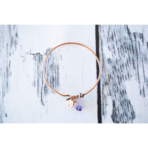 Amethyst crystal bracelet | Amethyst crystal bangle | Raw crystal bracelet