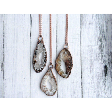 Druzy agate necklace | Geode jewelry | Geode druzy crystal necklace | Geode agate necklace | Natural agate necklace | Agate stone necklace