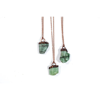 Emerald crystal necklace | Raw emerald necklace | Emerald necklace NECKLACES