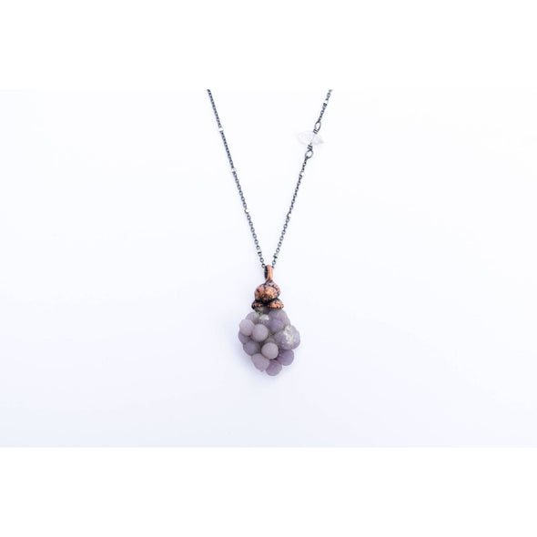 Grape Agate necklace | Agate jewelry | Agate pendant necklace | Sterling Agate necklace | Natural agate jewelry | Agate Cluster