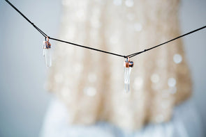 Raw crystal garland | Electroformed crystal garland | Raw crystal