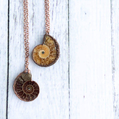 Madagasgar ammonite necklace | Raw ammonite necklace | Fossilized ammonite jewelry NECKLACES