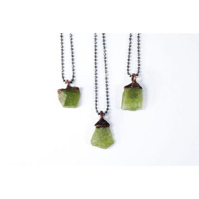 Peridot necklace | Raw peridot necklace | Electroformed peridot necklace NECKLACES