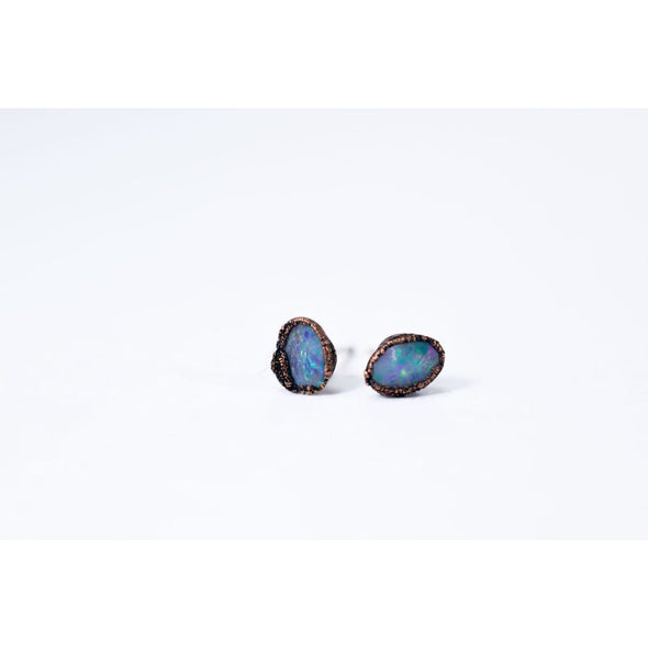 Polished opal earrings | Opal post earrings | Opal studs EARRINGS