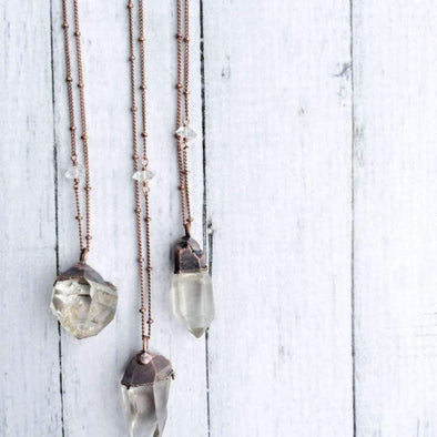 Raw crystal necklace | Electroformed crystal necklace | Raw crystal necklace NECKLACES