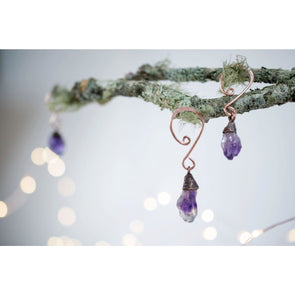 Raw crystal ornament | Amethyst crystal ornament | Raw crystal Christmas ornament EXTRAS