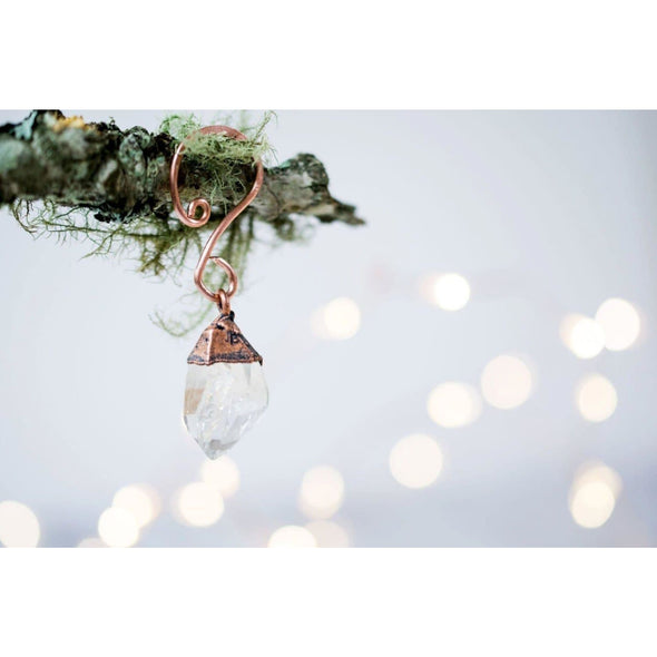Raw crystal ornament | Quartz crystal ornament | Raw crystal Christmas ornament EXTRAS