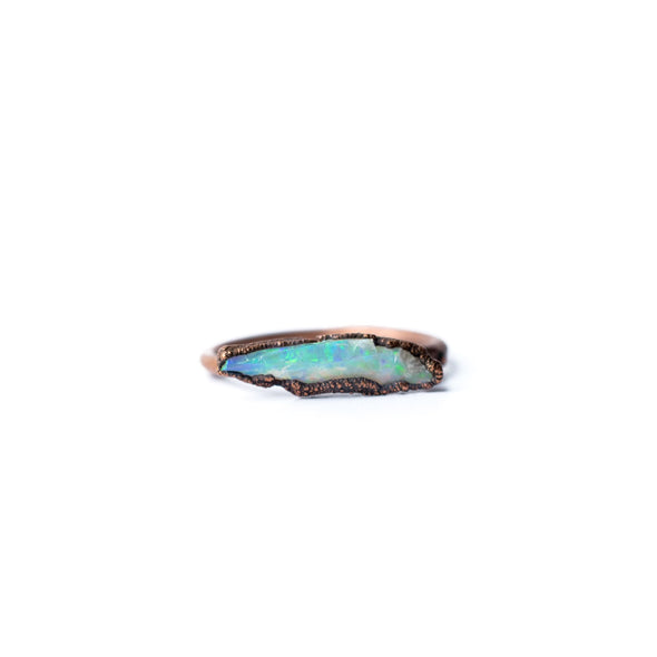 Raw opal bar ring | Rough opal ring | Rough opal jewelry RINGS