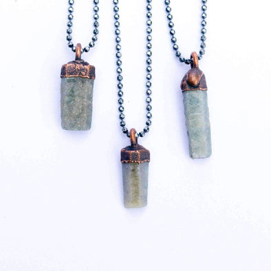 Raw sapphire necklace | Raw sapphire crystal pendant | Rough sapphire crystal pendant NECKLACES