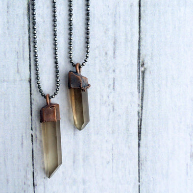 Raw smokey quartz necklace | Raw quartz necklace | Smokey citrine necklace | Crystal pendant on sterling chain | Rough smokey quartz crystal