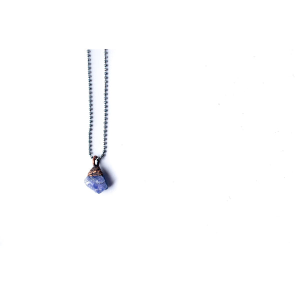 Raw tanzanite necklace | Tanzanite necklace | Tanzanite pendant | Raw crystal necklace | December birthstone necklace