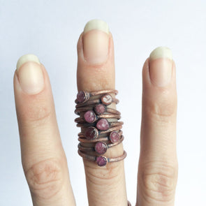 Raw tourmaline ring | Pink tourmaline crystal ring | Electroformed tourmaline ring | Raw stone ring | Raw tourmaline jewelry