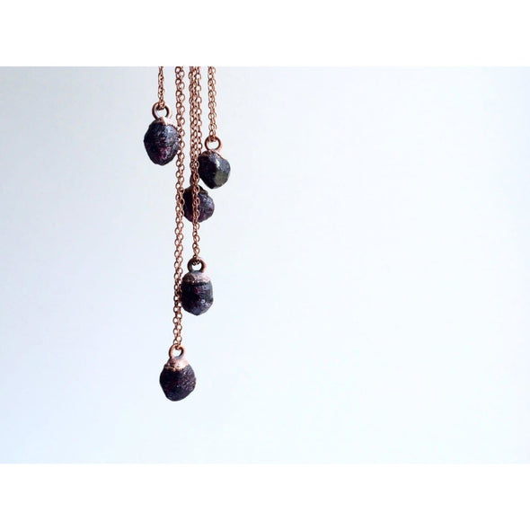 Rough garnet necklace | Garnet crystal necklace | January Birthstone Necklace NECKLACES