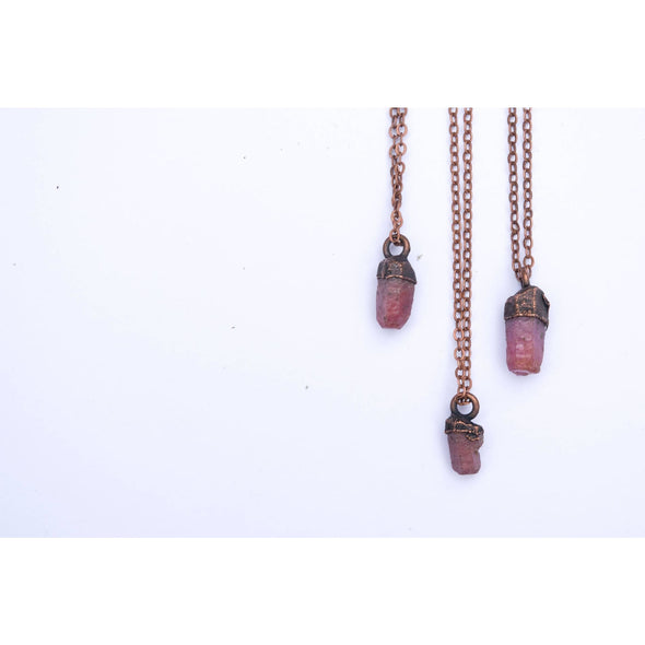 Ruby crystal necklace | Raw ruby necklace | Raw mineral necklace NECKLACES