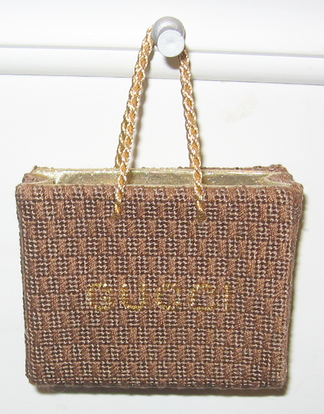 Needlepoint Gucci Shopping Bag