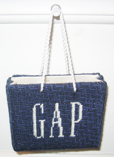 Needlepoint Gap Shopping Bag