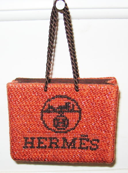 Needlepoint Hermes Shopping Bag
