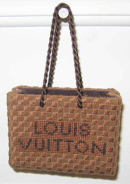 Needlepoint Louis Vuitton Shopping Bag