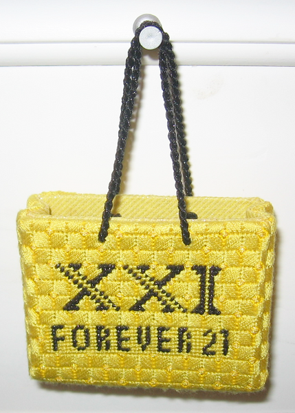 Needlepoint Forever 21 Shopping Bag