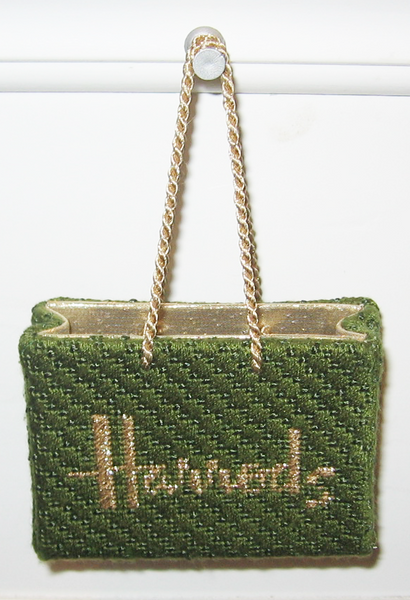 Needlepoint Harrods Shopping Bag