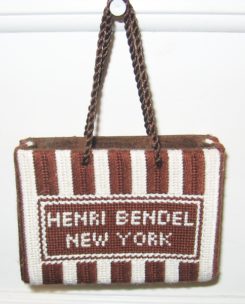 Needlepoint Henri Bendel Shopping Bag