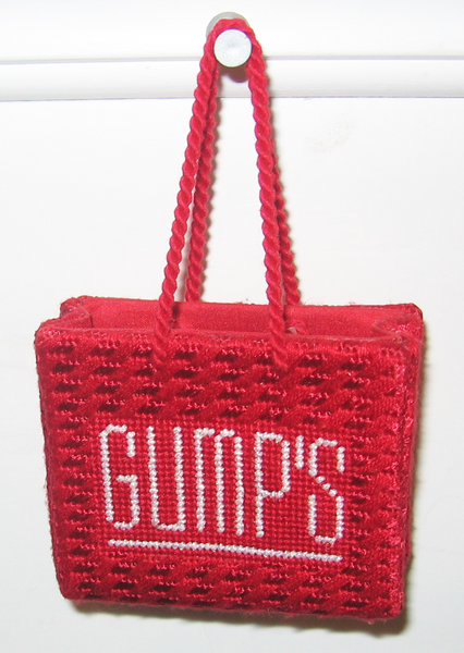 Needlepoint Gump's Shopping Bag