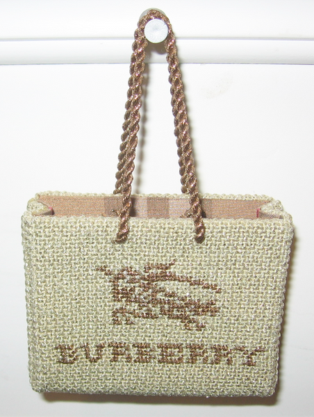 Needlepoint Burberry Shopping Bag
