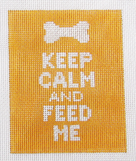 Needlepoint Keep Calm and Feed Me Canvas