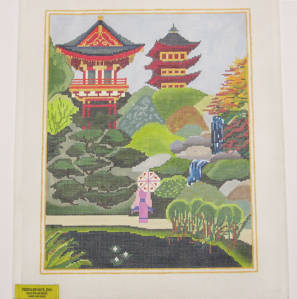 Needlepoint Japanese Garden Canvas