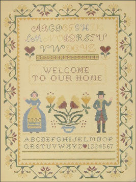 Needlepoint Welcome To Our House Sampler Canvas