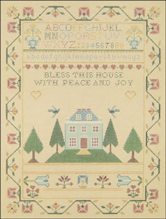Needlepoint Bless This House Sampler Canvas