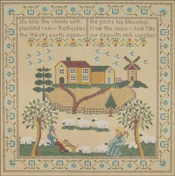 Needlepoint Farm Sampler Canvas