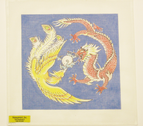 Needlepoint Asian Painting Canvas