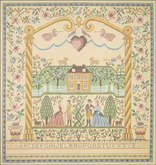 Needlepoint Courting Sampler Canvas