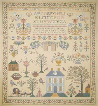 Needlepoint Carriage Sampler Canvas